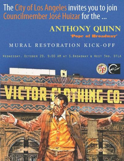Anthony quinn popeofbroadway mural restoration kick off for Anthony quinn mural