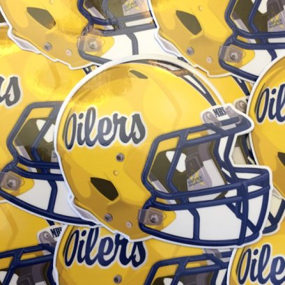 Montebello Oilers Football Helmet